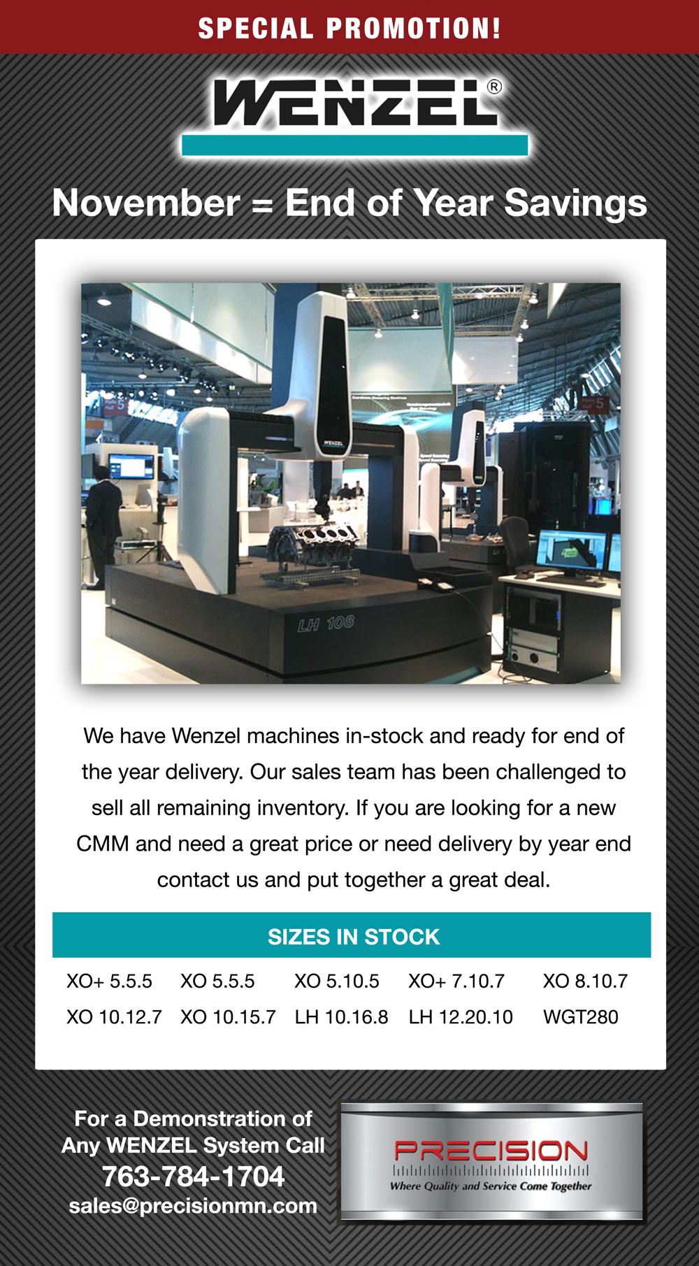 Savings on Wenzel CMM's